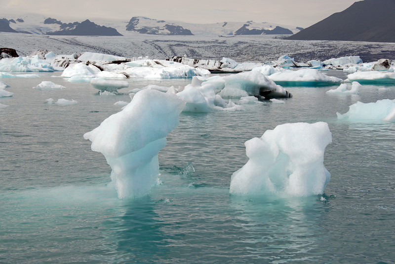 Melting icebergs in Jokulsarlon glacial lagoon, Iceland