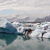 Jokulsarlon glacial lagoon with melting icebergs, Iceland