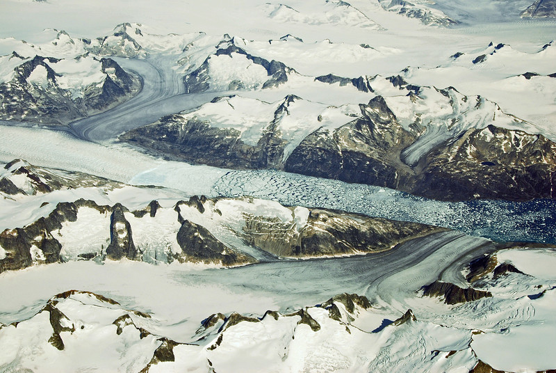 Avaqqat icefjord in south-east Greenland, in summer