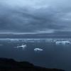 Midsummer night over Disko Bay, west Greenland