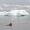 Fishermen going to work in Disko Bay, west Greenland