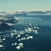 Icebergs drifting into Melville Bay in the Cape York area, northwest Greenland