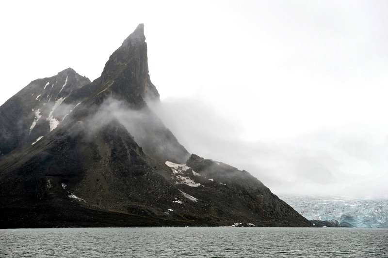 Bautaen peak (487 m) and adjacent Chomjakov glacier in the southern Hornsund, Svalbard
