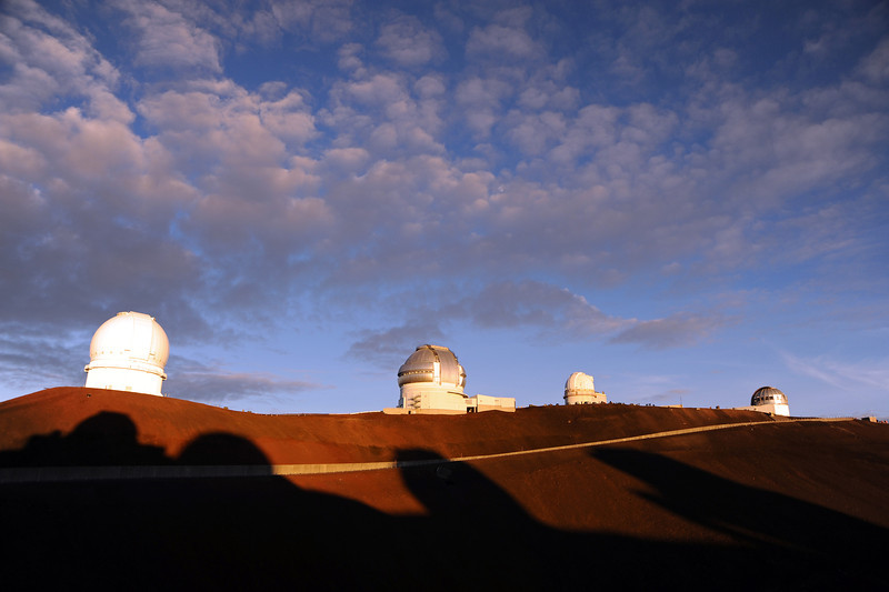 Observatories at the summit (4205 m) of Mauna Kea, Hawaii