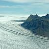 Vatnajökull icecap and Farinestindar massif, Iceland