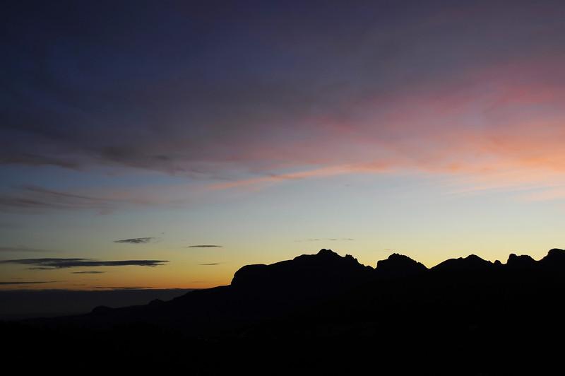 Fading light over the Sierra d'Aixorta, southeast Spain