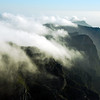 Clouds flowing over Table Mountain near Cape Town, South Africa