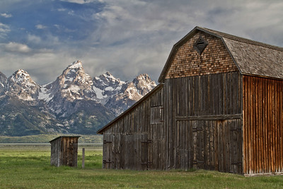 Mormon Row Barn and Outhouse