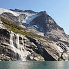 Waterfall at the base of the Sermitsiaq mountain, west Greenland