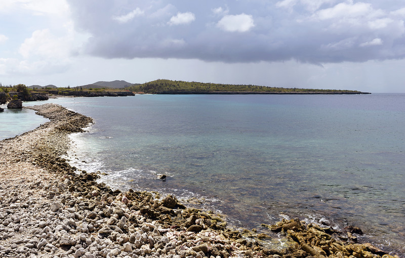 Coastal scenery at Boca Slagbaai on northern Bonaire