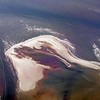 Aerial picture of the island of Rottumerplaat in the tidal Wadden Sea, The Netherlands