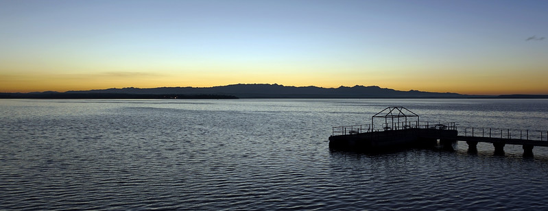 Clear air for miles ....... dawn view from Cienfuegos over the Bahia de Jagua towards the Sierra del Escambray, Cuba