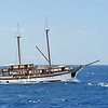 Sailing the blue Aegean in the Cyclades archipelago, Greece