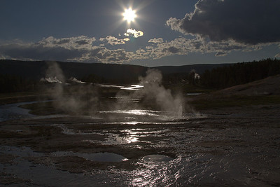 Geyser Basin Silhouette