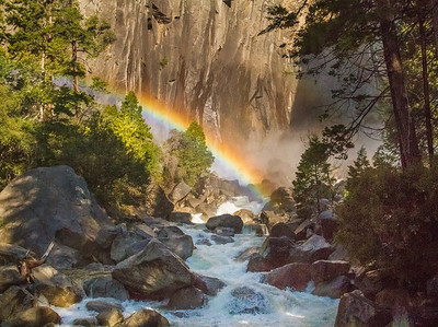 Rainbow at Yosemite Falls