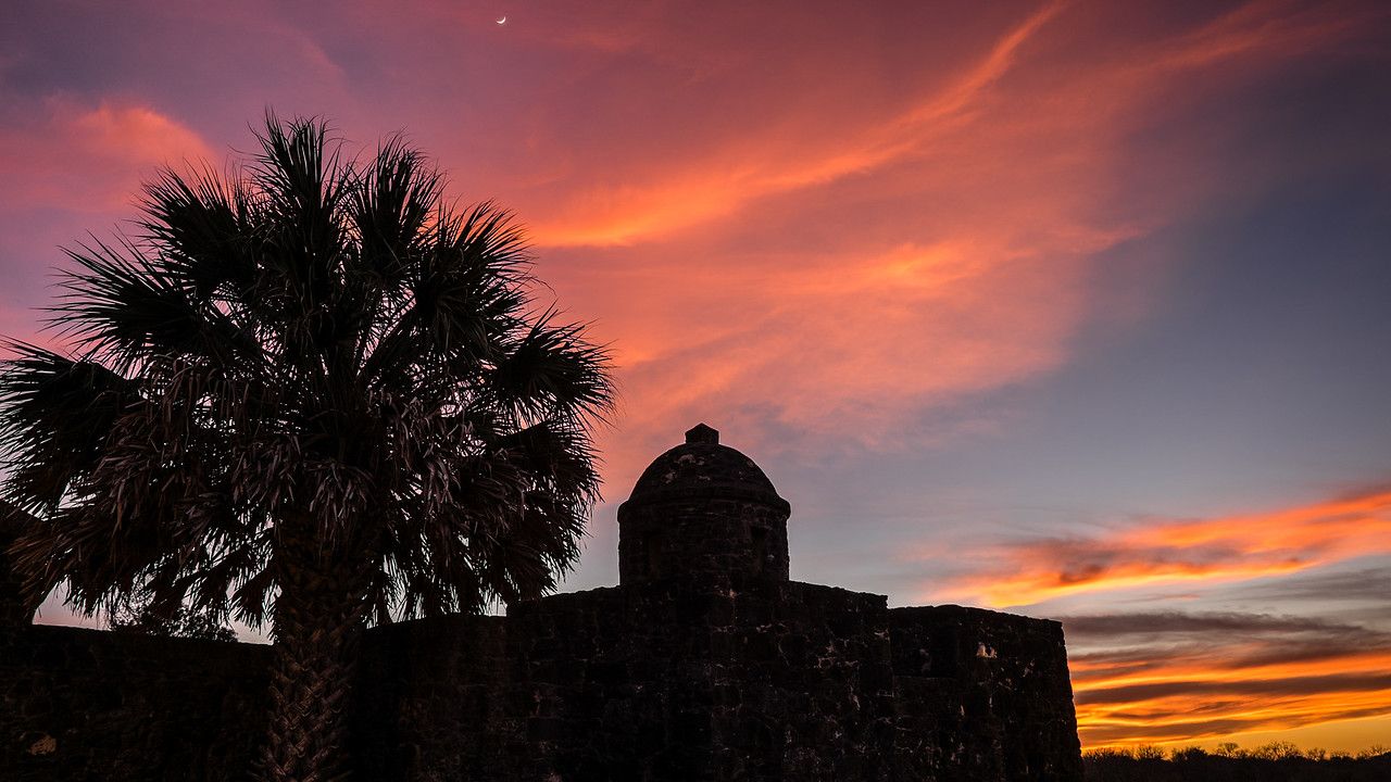 Presidio La Bahia Orange Sunset