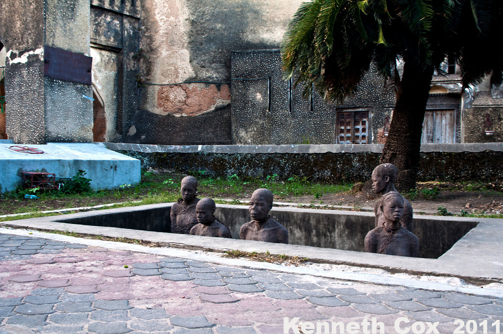 St. Josephs Cathedral in Stone Town. It was built on an old slave trade market, as these statues commemorate.