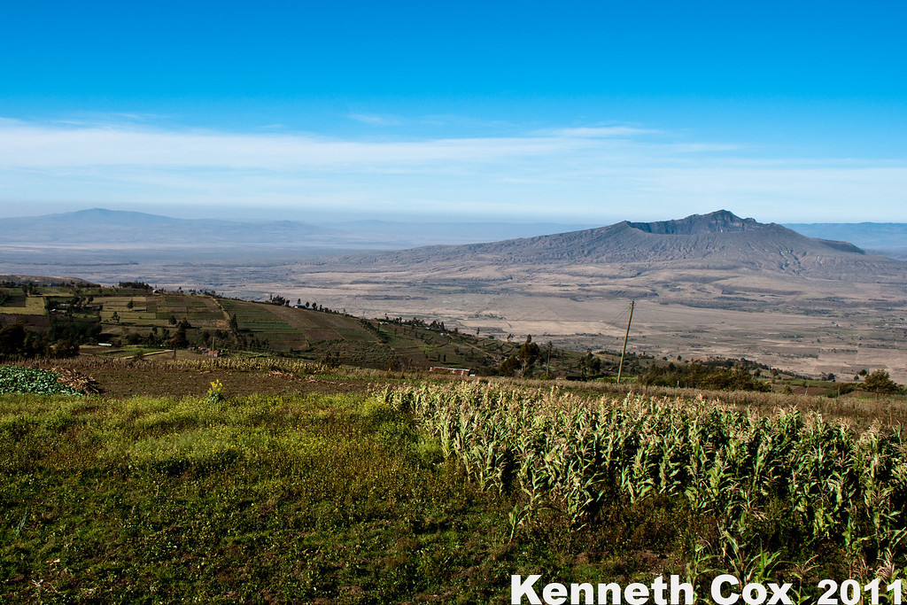 Looking into the Rift Valley, at Mt. Logonot. This whole region is widely believed to be the birthplace of humanity.