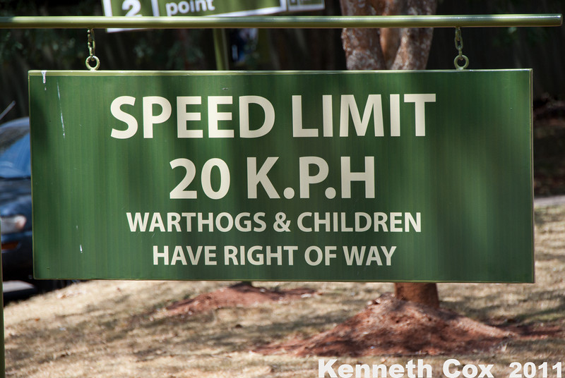 A sign at the entrance of Nairobi National Park.