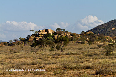Rock outcropping Chyulu National Park. Great place for sundowners