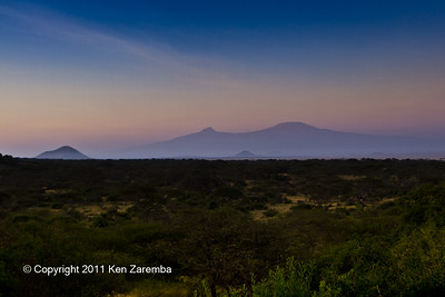 Early morning view from our Ol Donyo Wuas room, Mt Kilimanjaro in the distance
