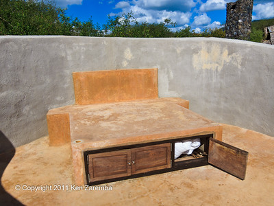 Platform for the outdoor under the stars bed in our Ol Donyo Wuas unit