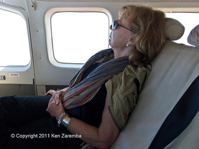 Super traveling companion  resting on return flight