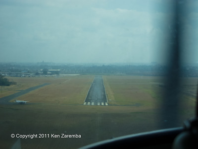 Final approach into Wilson airport, Nairobi