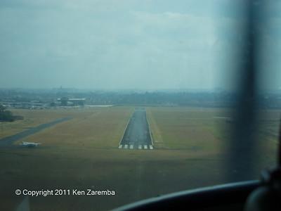 Final approach into Wilson airport, Nairobi