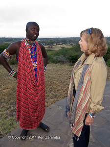 Susan and Ol Donyo Wuas guide & manager, Amos