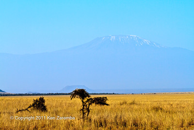 Mt. Kilimanjaro  from the Ol Donyo Wuas airstrip