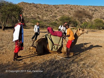 Susan's Camel adventure at Sabuk
