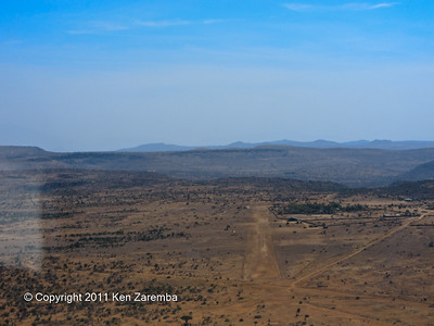 Approaching the Loisaba Airstrip in the Laikipia Plateau