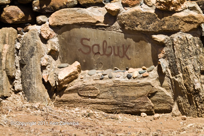 Sabuk Safari Lodge sign at the  main road turn off