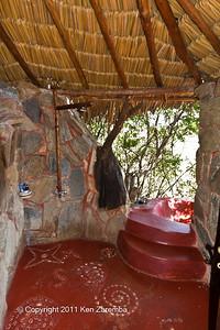 Inside our cottage at Sabuk
