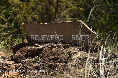 Rojewero River sign