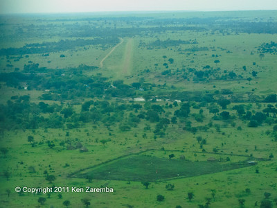 Approaching the Olkiombo airstrip in Maasai Mara National Reserve