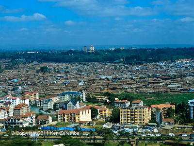 View of Nairobi near the Wilson airport