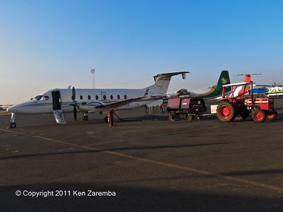 Our next airplane, bound for Ol Donyo Wuas.  Wilson Airport, Nairobi