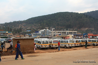 Central bus station in town busses, Kigali Rwanda, 1/12/09