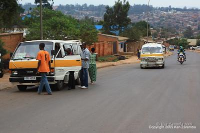 In town busses, Kigali Rwanda, 1/12/09
