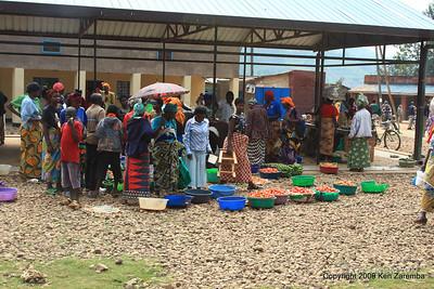Market day, rural Rwanda, 1/13/09
