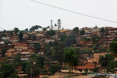 Housing in old Muslim section, Kigali Rwanda, 1/12/09