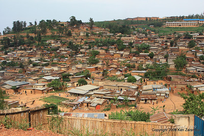 Old town Kigali housing, Rwanda, 1/12/09
