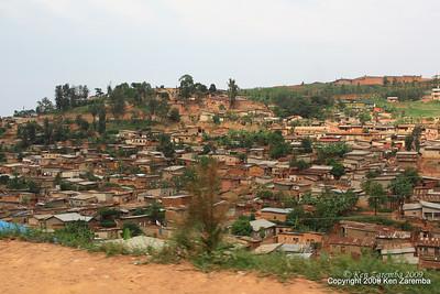 More old town Kigali housing, Rwanda, 1/12/09