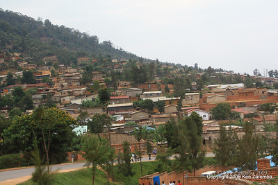 Housing in old section of town, Kigali Rwanda, 1/12/09