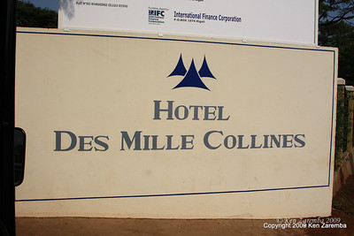 The real Hotel Rwanda, Kigali Rwanda, 1/13/09