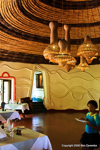 Lake Manyara Serena Lodge dining room interior, Tanzania, 12/31/08