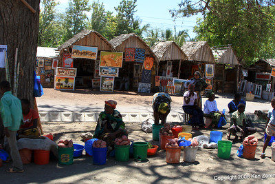 Roadside potato vendors in Mto wa Mbu near Lake Manyara Tanzania, 12/31/08