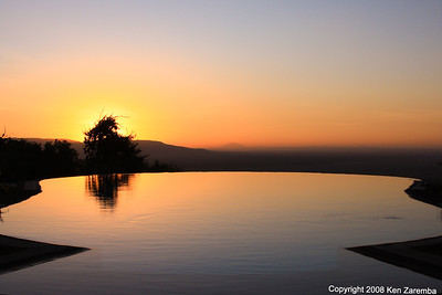 Sunrise at Lake Manyara Serena Lodge Tanzania, 1/01/09